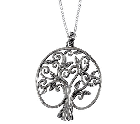 Or Paz Sterling Family Tree Pendant w/ Chain