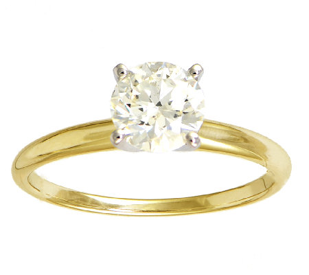 Diamond Solitaire Ring, 1cttw, 14K Yellow Gold, by Affinity