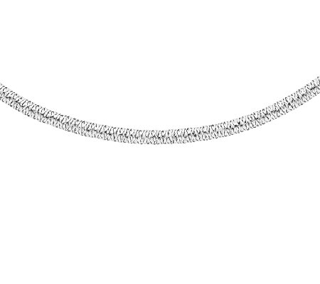"Stretch Mesh 17-1/2"" Necklace, 14K White Gold"
