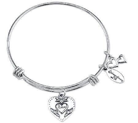 Sterling Expandable Sisters Charm Bangle by Extraordinary Life