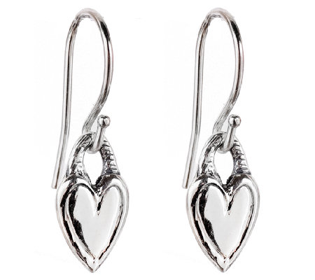 Hagit Sterling Petite Heart Dangle Earrings