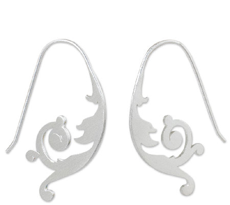 Novica Artisan Crafted Sterling Flower Earrings