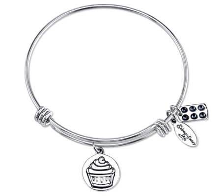 Extraordinary Life Sterling Cupcake AdjustableBangle