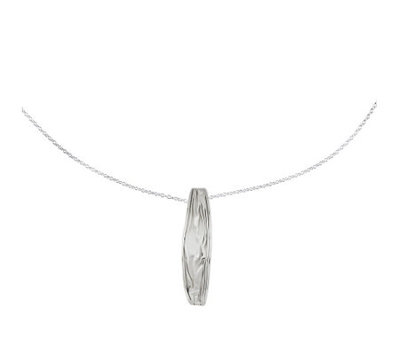 Sterling Silver Wavy Pendant with Chain by Silver Style