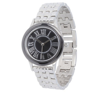 Stainless Steel Panther Link Watch with CeramicAccent - J344399