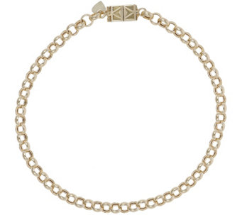 "Vicenza Gold 7-1/4"" Rolo Bracelet with Click Secure 14K, 3.0g - J345599"