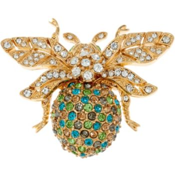 Joan Rivers Colorful Pave' Bee Pin