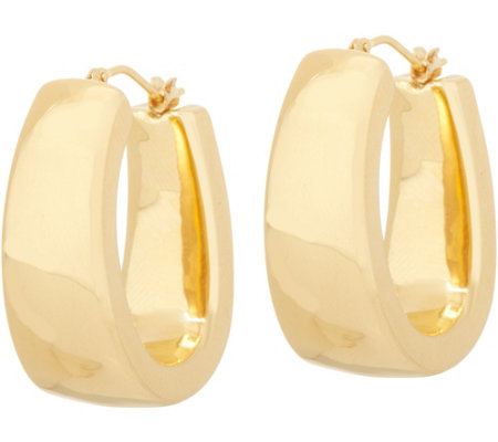 Oro Nuovo Bold Oval Hoop Earrings, 14K