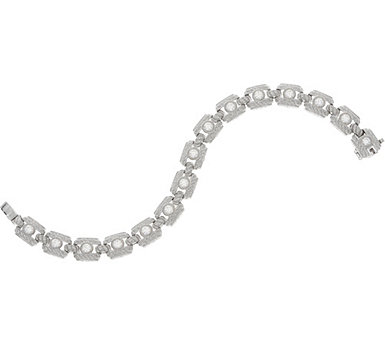 Judith Ripka Sterling Silver or 14K Clad Diamonique Tennis Bracelet - J351599