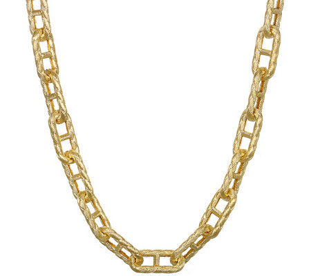 "Judith Ripka 14K Clad Link & Diamonique 20"" Necklace"
