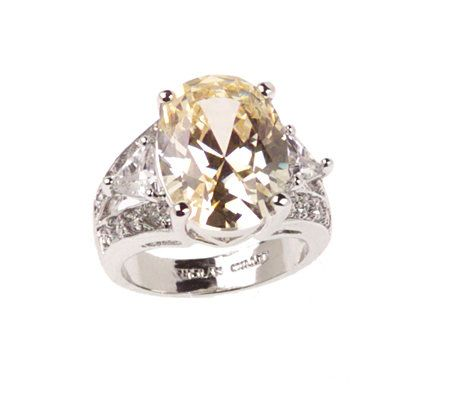 Nolan Millers Elite Simulated Canary Diamond Ring QVCcom