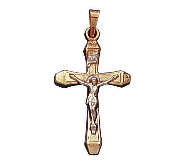 14k yellow gold cross pendant with 14k whitegold crucifix page 1 14k yellow gold cross pendant with 14k whitegold crucifix page 1 qvc mozeypictures Image collections