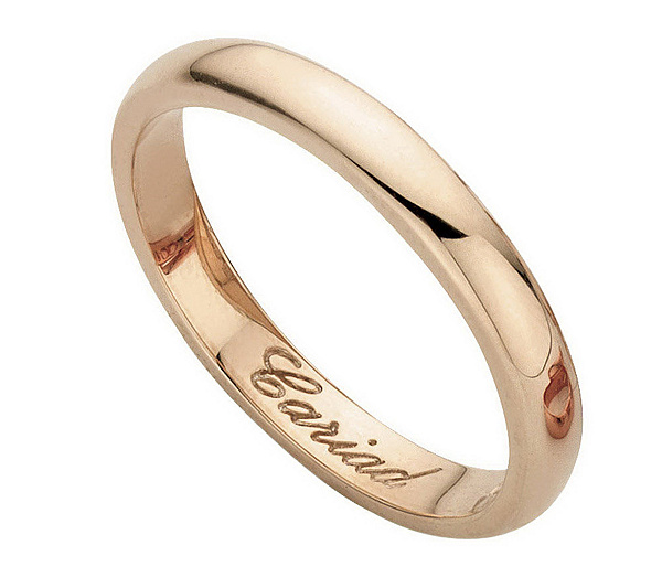 Royal Wedding Band Ring By Clogau Gold Of Wales 14k Page 1 Qvc