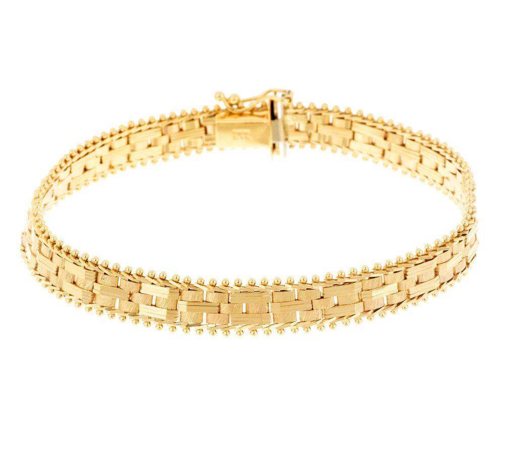 Imperial Gold 7 Cobblestone Bracelet 14K Gold 145g Page 1 QVCcom