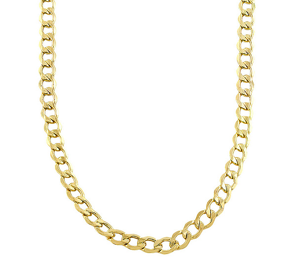 tradesy solid flat i curb necklace chain fbm yellow gold