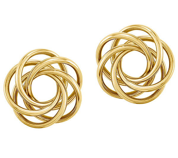barsky tricolor image knot gold love trinity shieler earrings in diamonds