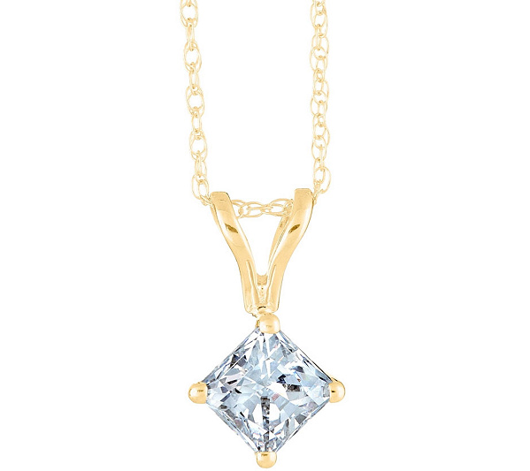 and product cut pendant gold white princess diamond chain