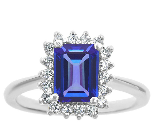 diamonds tanzanite cut with emerald
