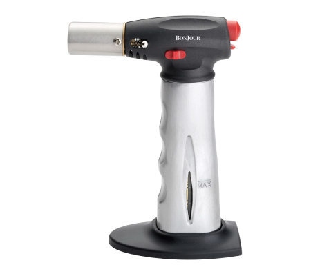 BonJour Chef's Tools Torch w/ Fuel Gauge - Brushed Aluminum