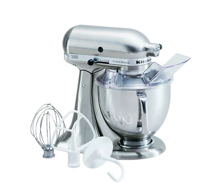 KitchenAid 5-Qt Metallic Series Stand Mixer- Chrome