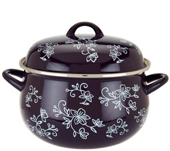 Temp-tations Floral Lace 7.8Qt Belly Stockpot - K44600