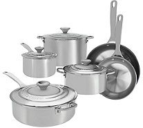 Le Creuset 10-pc Signature Tri-Ply Stainless Steel Cookware Set - K45200