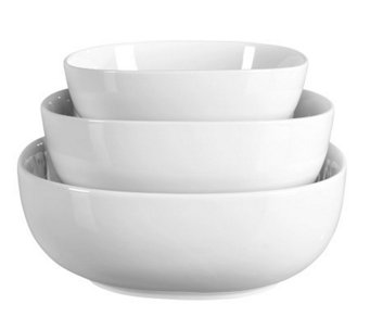 Tabletops Gallery Denmark Set of 3 Square Serving Bowls - K299801