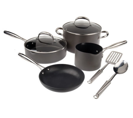 Technique Hard Anodized Dishwasher Safe 8-pc. Cookware Set