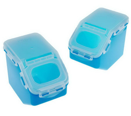 Lock & Lock 2-Piece Flip Top Canister Bin Storage Set