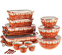 Temp-tations Floral Lace 20-piece Bakeware Set - K42701