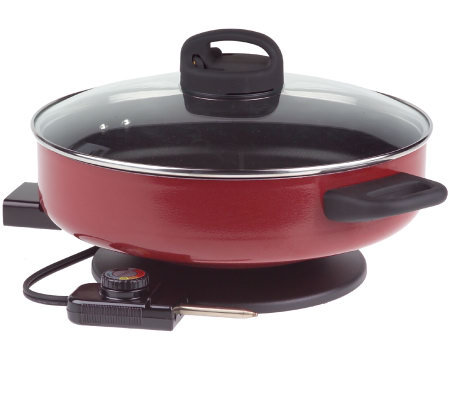 Cooksessentials Hardcoat Enamel Nonstick 12 Quot Electric Fry