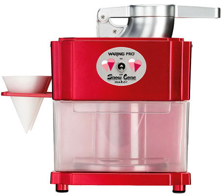 Waring Pro SCM100 Snow Cone Maker - Metallic Red