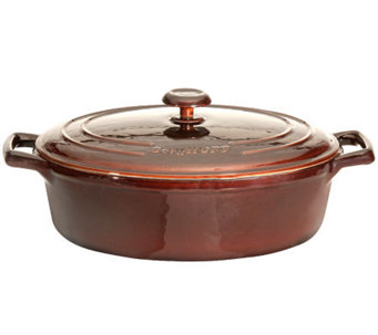 "BergHOFF Neo 11"" 4.8-qt Cast-Iron Covered OvalCasserole - K300202"