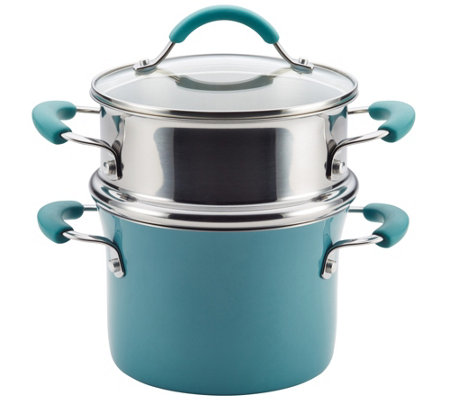 Rachael Ray Cucina Hard Enamel Nonstick 3-qt Multi-Pot Set