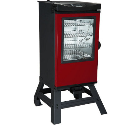 "Masterbuilt 30"" 4-Rack Digital Electric Smoker with Leg Kit, Cover & Gloves"