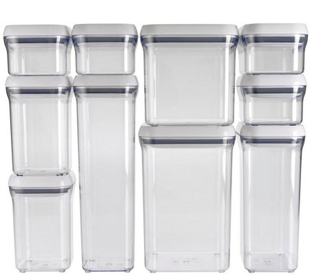 OXO Good Grips 10-Piece POP Container Set - White