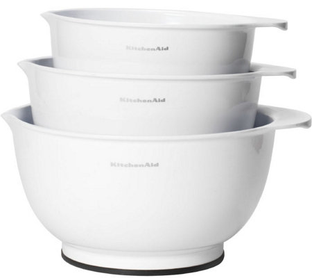 KitchenAid Set of 3 White Mixing Bowls