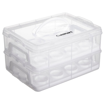 Cuisinart Stackable Cupcake Carrier - 24 Cupcakes