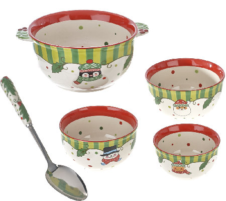 Temp-tations S/4 Winter Whimsy Concentric Bowl Set