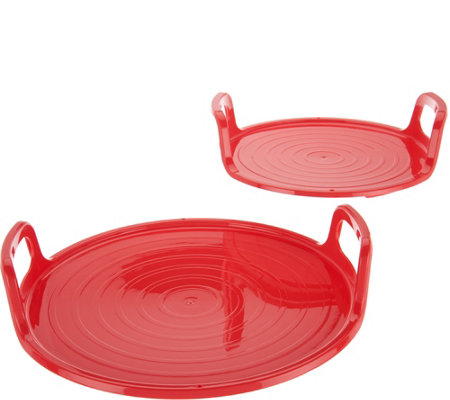 Cook's Essentials Set of 2 Nesting Microwave Trays