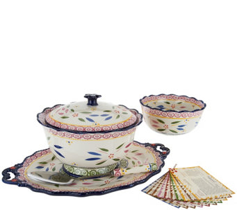 """As Is"" Temp-tations Old World 6 pc Serving Platter & Bowl Set - K307605"