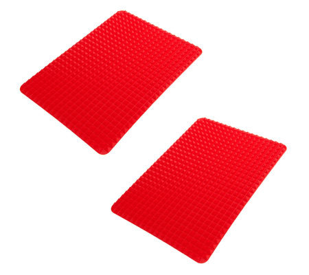 "Set of 2 11"" X 16"" Silicone Pyramid Baking Mats"