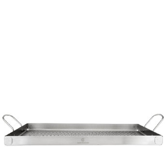 "CooksEssentials Stainless Steel 16""x12"" BBQ Grill Tray - K42305"