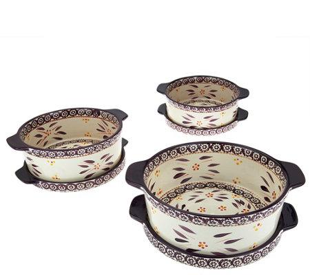 Temp-tations Old World 6-piece Round Bake Set