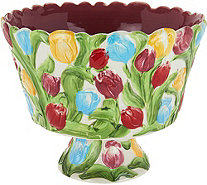 Temp-tations Figural Floral 3 qt. Trifle Bowl - K44205