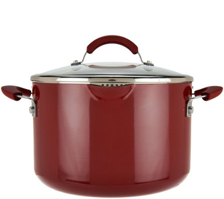 CooksEssentials 7qt Aluminum Stockpot with Spouts&Locking Drain Lid