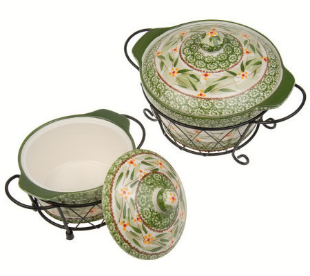 Temp-tations Old World 6-piece Round Oven-to-Table Set