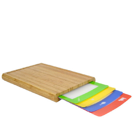 Casabella Chop 'N Prep Cutting Board with 4 Cutting Mats