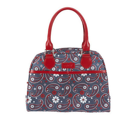 "Sachi ""Lunchin'Ladies Insulated Paisley Print Lunch Tote"