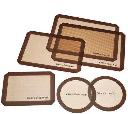 Cook's Essentials 6-piece Silicone Baking Mat Set
